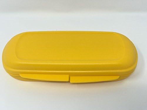 Tupperware Petite boîte à pain Twin Boîte à pain pain pain Jaunes Box Jardin d'enfants crèche B07B5F4XSK | La Plus Grande En Matière De Commodité  3c61d2