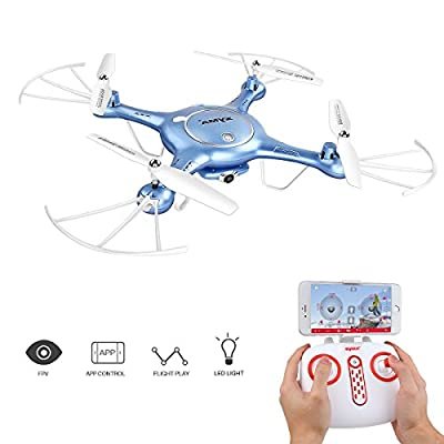 Drone with HD Camera SYMA X5UW 720P FPV Real-time Wifi Gravity Control RC RTF Quadcopter with Flight Plan Route App Control & Altitude Hold Function