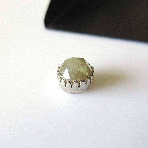 Courroie 1 pcs/1.25ctw/gris argent 925/Diamant Rose Ensemble serti de serrage/prêt à l'emploi en Anneaux Pendentifs/7.2 mm – Dds211/7