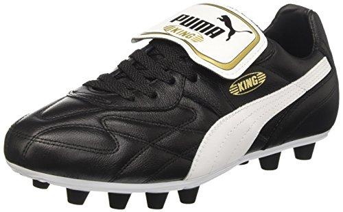 Herren High Boot Tops (Puma Herren King Top M.I.I FG Fußballschuhe, Schwarz (black-white-team gold 01), 42.5 EU)