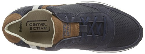camel active Reload 13 Herren Sneakers Blau (indigo/timber/off-white)