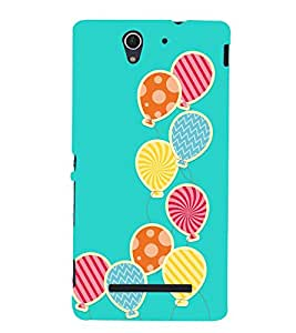 Bubble Design 3D Hard Polycarbonate Designer Back Case Cover for Sony Xperia C3 Dual D2502 :: Sony Xperia C3 D2533
