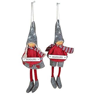 justhome, Cubi Gift wl-1090Juego de 2lorenze de ángeles Navidad felicitación Surtidos, Tejidos Diferentes, única