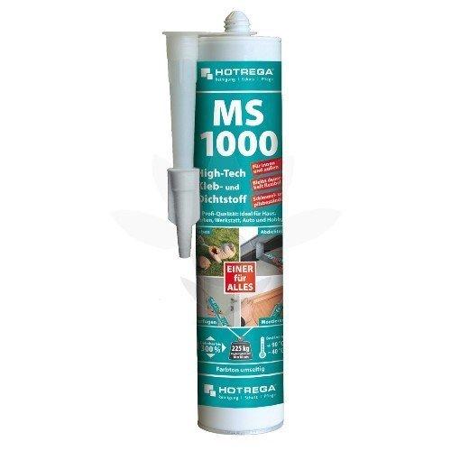 HOTREGA MS 1000 High Tech Kleb- und Dichtstoff Kartusche in Transparent, Metallic und in Farbe, Farbe:klar