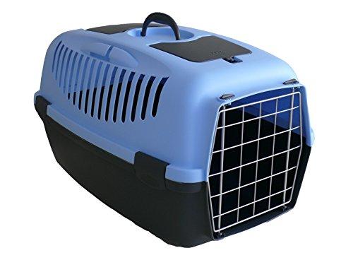 Stefanplast GULLIVER 3 Transportbox, 61 x 40 x 38 cm, bis 12 kg, Farbe: Blue/Grey