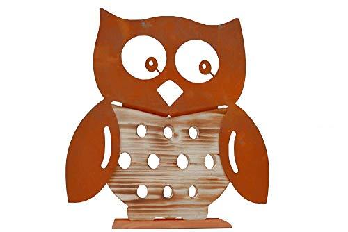 Chouette en bois Chouette rouille Chouette Bois rouille patine Métal décoratif décoration fête des mères cadeau