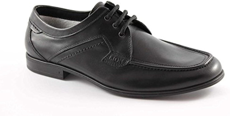 Lion León 20684 Zapatos Negros de Hombre Holgazanes Cordones de Cuero Antiestático