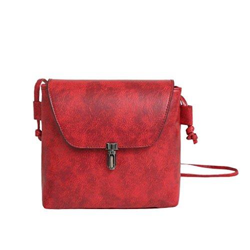 Xmansky Retro Einfach Tasche Mini Crossbody Schulter Tasche Rot