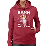 Coto7 Bark The Herald Angels Sing Dog Christmas Women's Hooded Sweatshirt