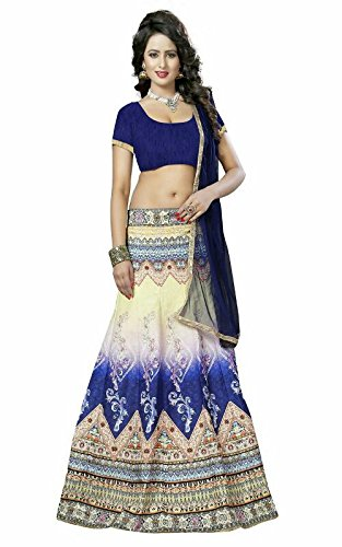 White World Women\'s Digital Printed Banglori silk Semi-Stitched Lahenga (Women\'s Clothing Lehenga For Women Latest Design Wear Lehengas Collection in Green Coloured Georgette Material Latest Lehenga