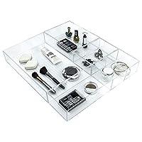 Ulinek 5Piece Set Cosmetic Organiser Cabinet Bedside Organiser Drawers-Clear