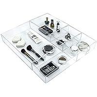Ulinek 5-teiliges Schubladen Organizer Set, Kosmetik Organizer, Kommoden Organizer, Schrank Organizer,, durchsichtig