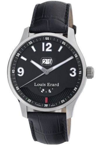 LOUIS ERARD 1931 82224AA02.BDC51 GENTS BLACK CALFSKIN 44MM AUTOMATIC DATE WATCH