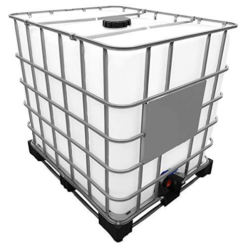 1000l IBC Container (Neue Tankblase) auf Stahl/PE-Palette REBOTTLED Deckelgröße DN 150, Armaturgröße S100x8 Grobgewinde - Neue Paletten