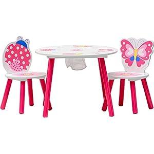 IB-Style – Kindersitzgruppe Truhenbank Spielgruppe Papillon | 6 Kombinationen | Set: 1 Tisch + 2 Stühle – Stuhl…