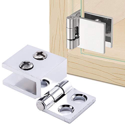 41VCWTobxkL - SurePromise - Juego de bisagras para puerta de cristal (4 unidades, 5 mm-8 mm, rectángulo, ajustables)