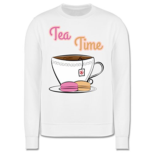 Küche - Tea Time - Herren Premium Pullover Weiß