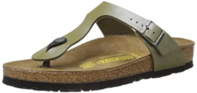 Birkenstock Women's Gizeh 812 UK231 Khaki Slides Sandal 2 UK 35 EU