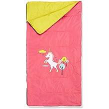 ABBEY Niños Junior Saco de Dormir, Color Rosa/Amarillo, tamaño Talla ...