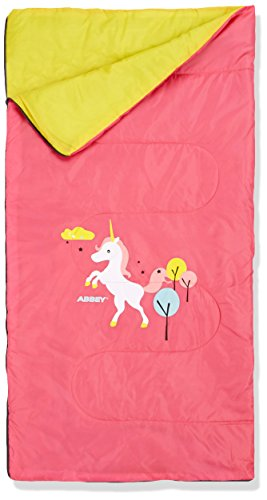 ABBEY Niños Junior Saco de Dormir, Color Rosa/Amarillo, tamaño Talla única, 1