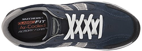 Skechers Larson Nerick, Baskets Basses Homme Navy / grey