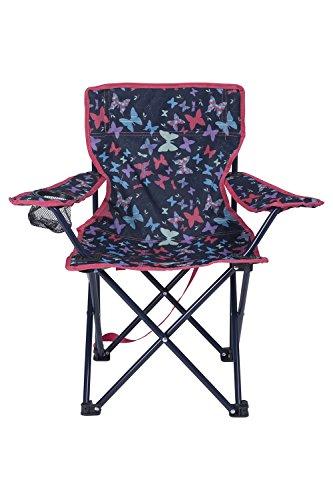 Mountain Warehouse Gemusterter Mini-Klappstuhl für Kinder - Campingstühle für Kinder, leichter Picknickstuhl, strapazierfähiger Hocker - Für Picknicks, Strand, Garten Violett (Picknick Strand-klappstuhl)