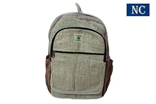 43c79770d120 Nepal Hemp House Del Himalaya puro cáñamo Multi bolsillo mochila con funda  para portátil – diseño