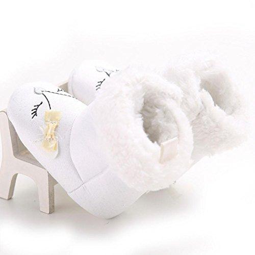 Ouneed® 0- 18 mois Bebe Fille Chaussures Souple (11, Marron) Blanc