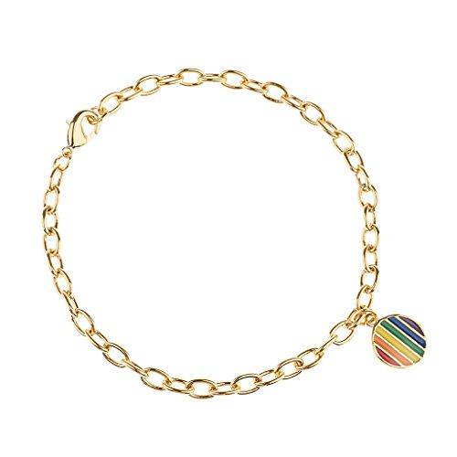 MagiDeal LGBT Frauen Männer Armreif Ketten Design Dünne Armband Armspange mit Anhänger - Gold (Armreifen Dünne Gold Armbänder)