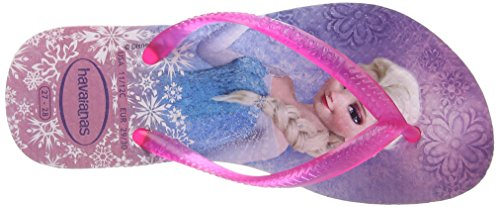 Havaianas Slim Frozen, Tongs fille Multicolore (Crystal/Rose 1141)
