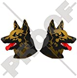 ALLEMAND BERGER Canin Chien de Garde, 120mm Vinyle Autocollants, x2 Stickers...