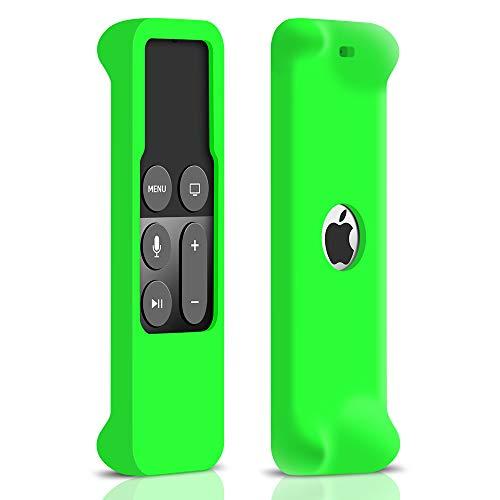 Schutzhülle für Apple TV 4K / 4th Generation Siri Fernbedienung, Leichte Rutschfeste Stoßfeste Reißfest Silikone Hülle Tasche Case Cover für Apple TV 4. Generation Remote (Grün) -