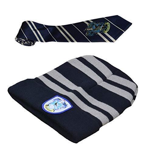 LOBTY Harry Potter Schule Junge Kostüm Striped Tie mit Neuheit Hut für Schule Mädchen Jungen Kostüm Cosplay Halloween Kostüme Zauberer (Schule Jungen Und Mädchen Kostüm)