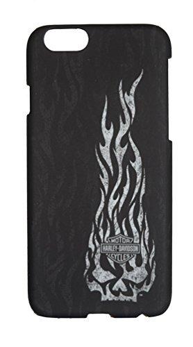 Harley-Davidson iPhone 6Shell, Willie G, diseño de calavera en llamas, negro 06933