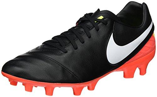 Nike Herren Tiempo Mystic V FG Fußballschuhe Schwarz (Black/White-Hyper Orange-Volt) 42.5 EU
