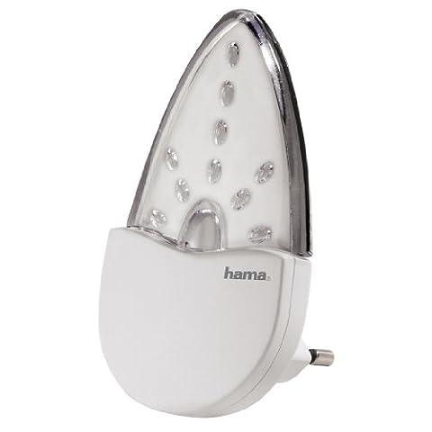 Hama Bernstein LED Nachtlicht für Kinderzimmer und Schlafzimmer (Stromsparend, nur 0,2 W, Orientierungslicht für Gang und Keller, Stimmungslicht, Nachtlampe, Eurostecker)