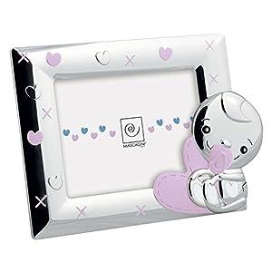MASCAGNI Bilderrahmen für Mädchen, 13 x 18 cm, aus glänzendem Metall und emailliert.