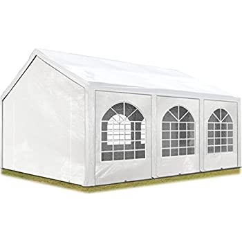 toolport party zelt festzelt 5x5 m garten pavillon zelt 500g m pvc plane in wei wasserdicht. Black Bedroom Furniture Sets. Home Design Ideas