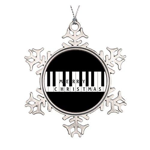Daily Lady Urlaub Schlüssel Piano Keramik rund Weihnachten Ornament