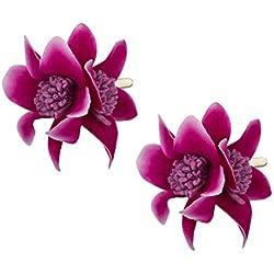 """SIX """"Blumen"""" Damen Haarspange, Haar Clip, Duck Clip, Haarschmuck, Blume, Blüten, Lila, Pink (488-030)"""