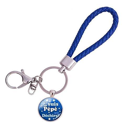 keyjiang Schlüsselbund Leder Seil Schlüsselanhänger handgefertigt Glaskuppel