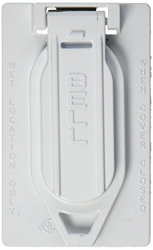 Hubbell-Bell 5146-0 Weatherproof Single Gang Vertical Device Mount Cover Duplex by Hubbell Bell