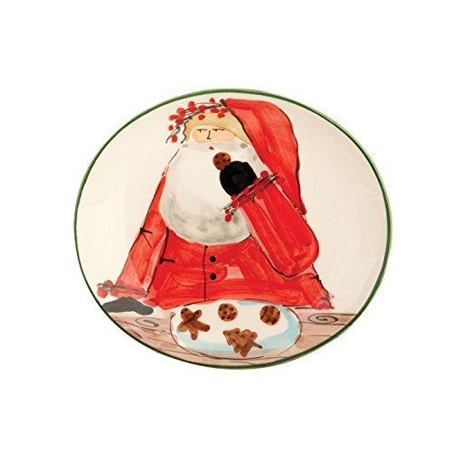 Vietri Santa (Vietri Old St. Nick 8.25 Santa Cookie Plate - Giftboxed by VIETRI)