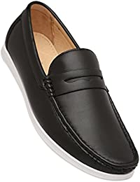 Tresmode Mens Leather Slip On Loafers