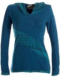 Vishes – Alternative Bekleidung – Lagenlook Longsleeve Shirt mit Zipfelkapuze