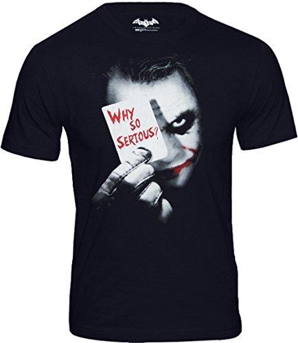 T-Shirt Joker - Why So Serious?, schwarz (M)