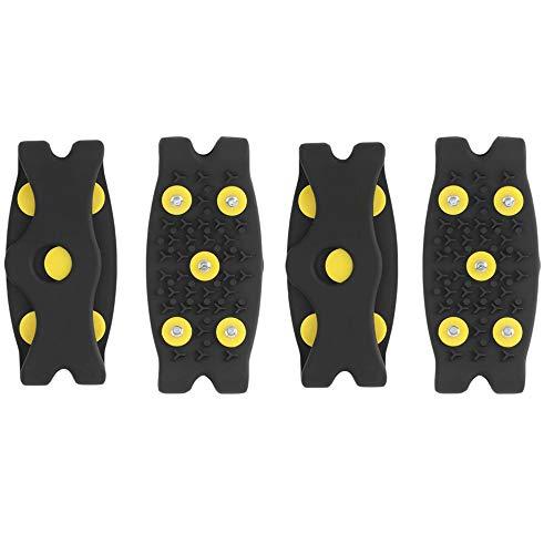 2 Paar Eis- und Schneeschuhklemmen Universal-Slip-On-Stretch Fit Schneeispikes Griffe Steigeisen , Slip-On-Schuhgreifer, Schnee-Eisklettern Anti-Rutsch-Spikes -