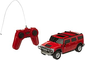 Toyhouse Officially Licensed 1:24 Hummer H2 SUV RC Scale Model Car, Red