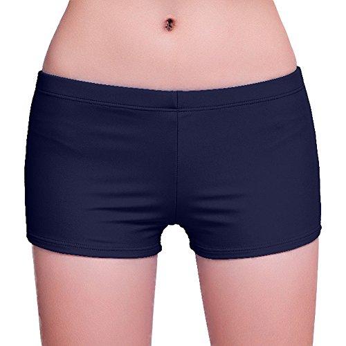 FLYILY Women's Sports Swim Shorts Boyleg Board Shorts Beach Bikini Tankini Bottoms Swimwear