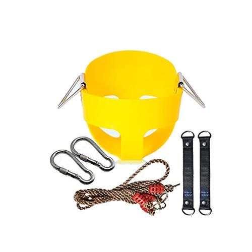 Home Kinder Schaukel Schaukel Kind Spielzeug EVA Verdickung Indoor Hängesessel Baby Outdoor Indoor Hängenden Korb Schaukelstuhl (Color : Yellow)